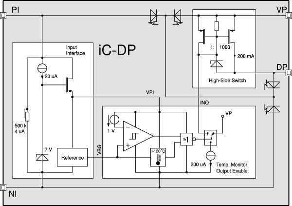 200 mA High-Side Switch and Level Shift for 4 V to 36 V with Input/Output Decoupling