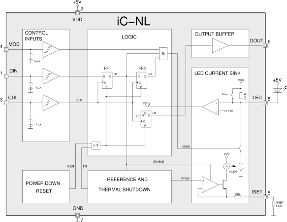 Light-Grid Pulse Driver with Modulation Input