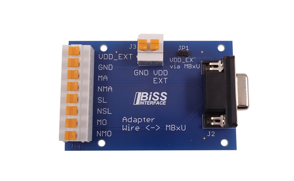 iC334BiSS-D-SUB Connection Adapter with Clamp Terminal