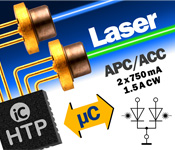 Dual CW P-Type Laser Diode Driver for up to 1.5 A